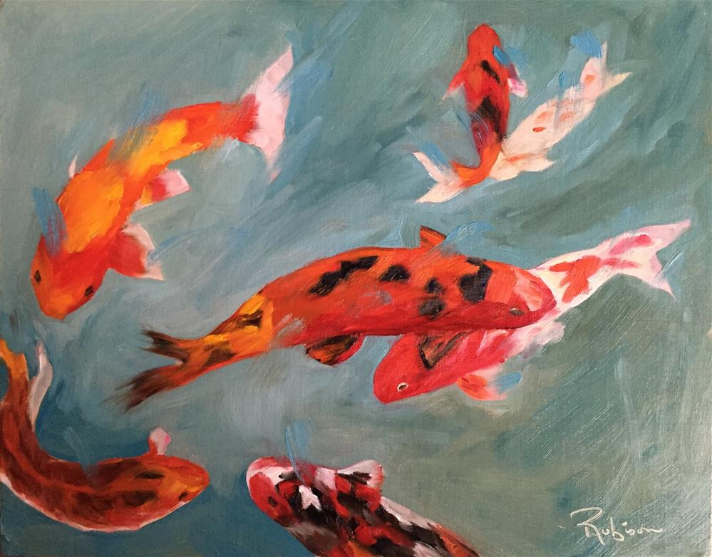 """Orange Swirl"" original fine art by Renee Robison"