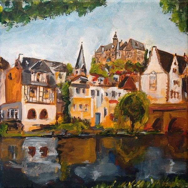 """0498 Castle Mountain Marbrug - Schlossberg Marburg"" original fine art by Dietmar Stiller"