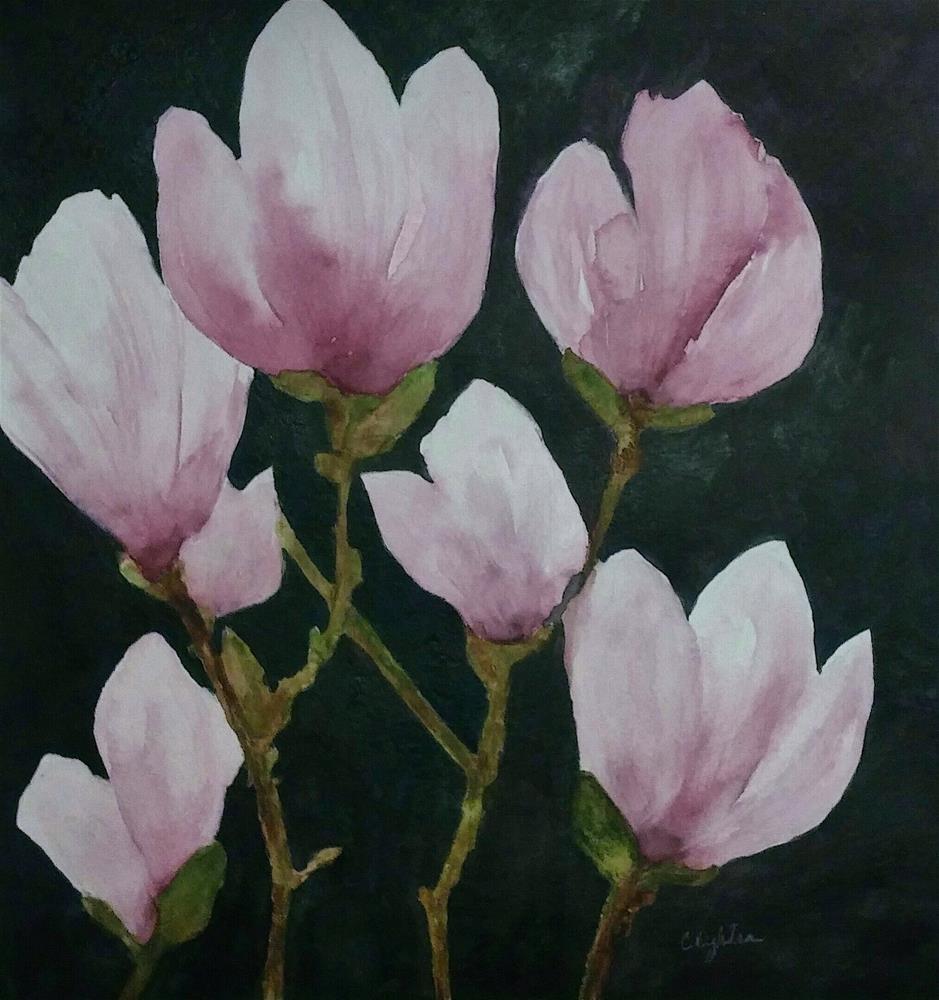 """Flower Power"" original fine art by Cathy Dykstra"