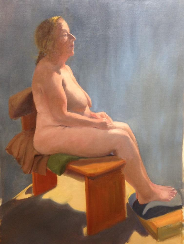 """""""Life Figure - Lisa"""" original fine art by Karen D'angeac Mihm"""