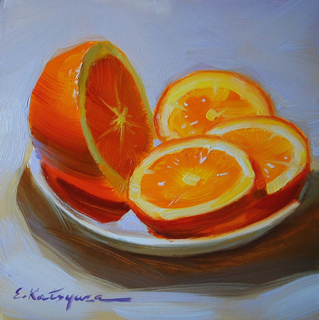"""Winter Orange"" original fine art by Elena Katsyura"