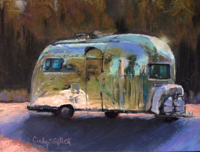 """Roughing It"" original fine art by Cindy Gillett"