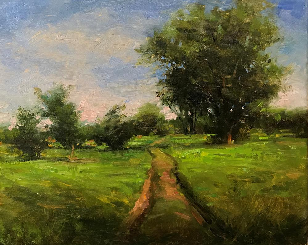 """Path to the orchaid"" original fine art by Regina Lyubovnaya"