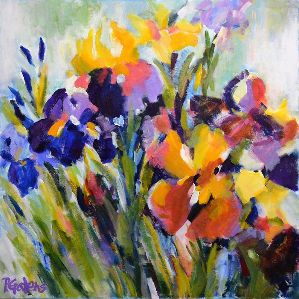"""Blooming Iris"" original fine art by Pamela Gatens"