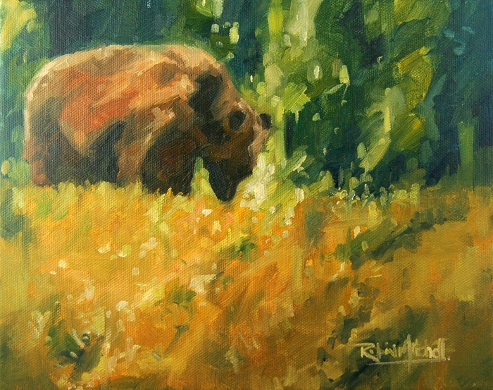 """No 465 Spring Look"" original fine art by Robin J Mitchell"
