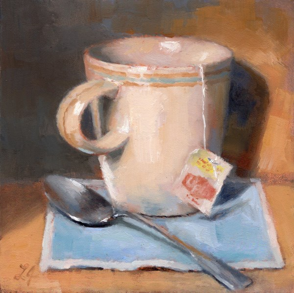"""Tea Break"" original fine art by Linda Jacobus"