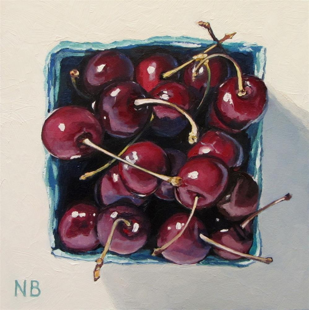 """""""Cherries on Top"""" original fine art by Nora Bergman"""