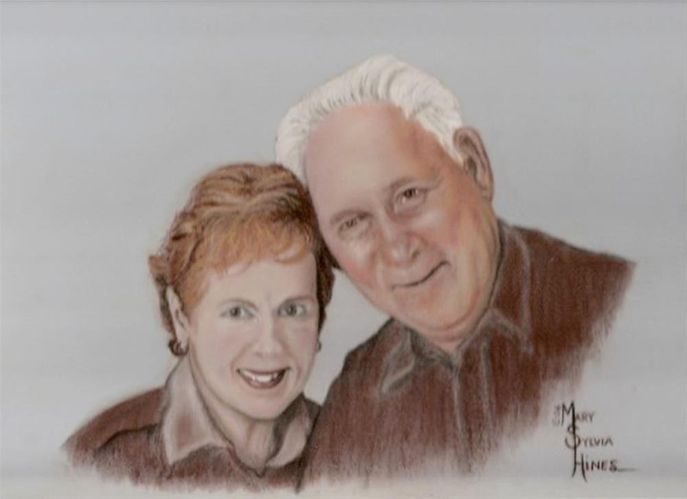 """Custom Portrait #65"" original fine art by Mary Sylvia Hines"