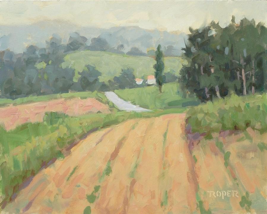 """""""DAY 26 #2: Foggy Start"""" original fine art by Stuart Roper"""