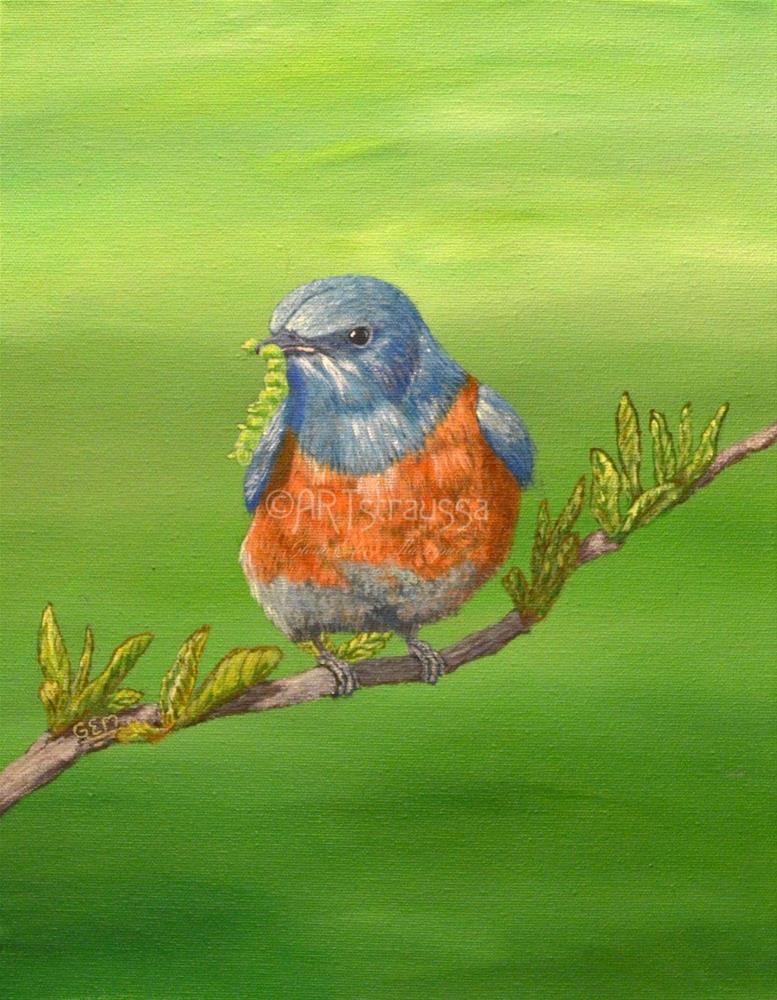 """""""Early Bird"""" original fine art by Gloria Ester"""