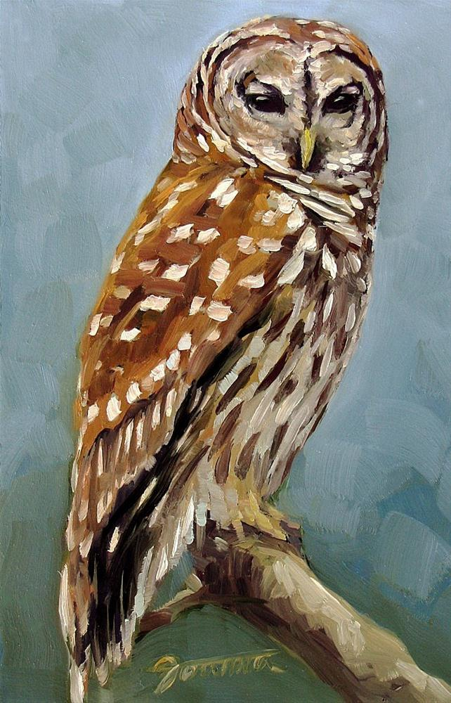 """Whooo is Watching You"" original fine art by Joanna Bingham"