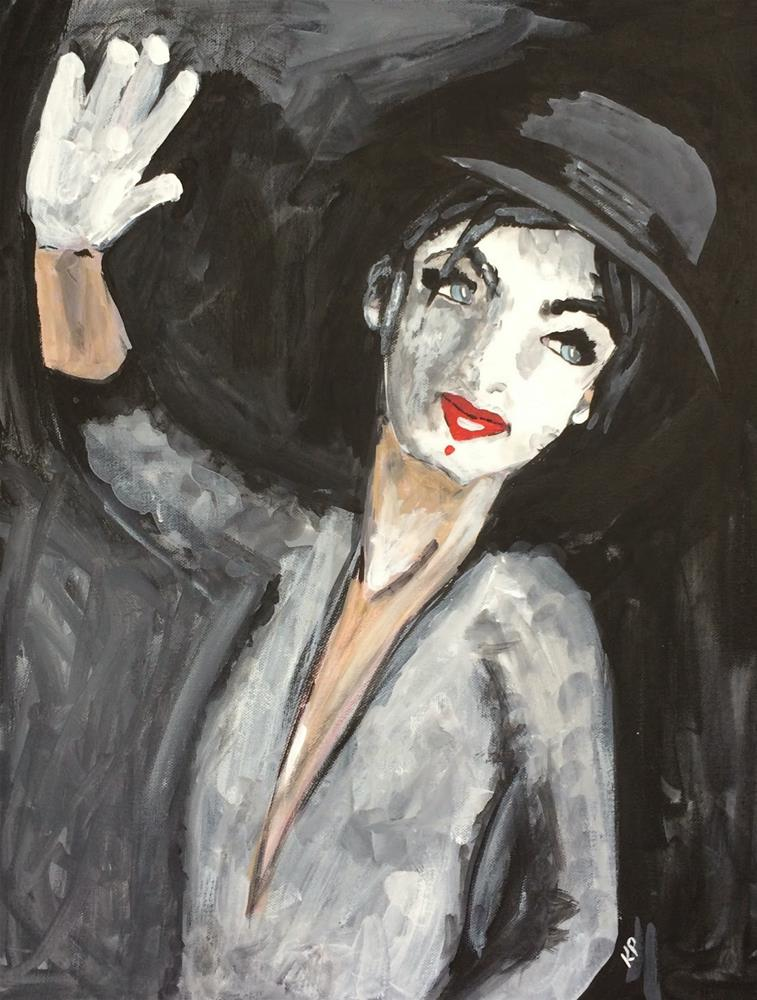 """""""Who Likes a Mime?"""" original fine art by Kali Parsons"""