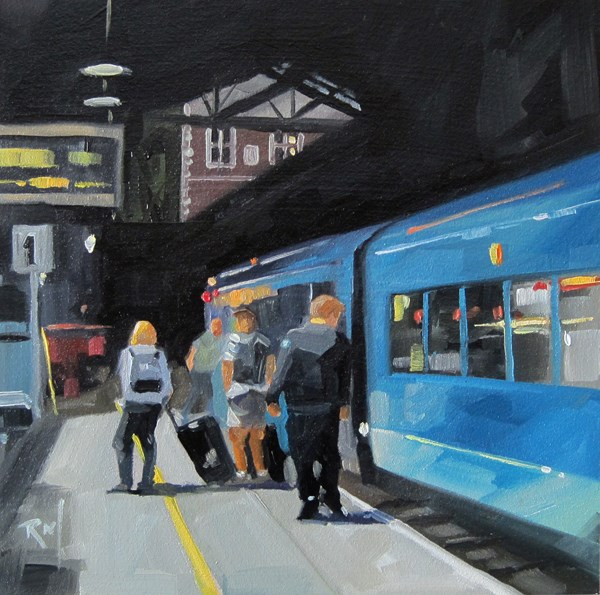 """""""No 796 End of the Line"""" original fine art by Robin J Mitchell"""