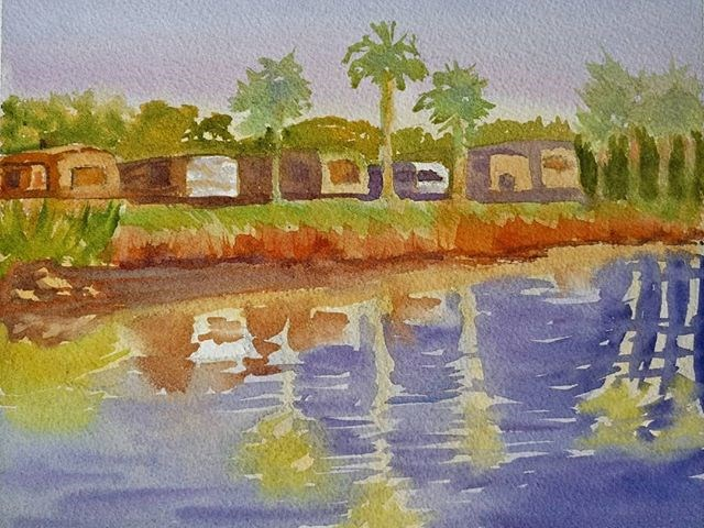 """RV Reflections"" original fine art by Maria Peagler"