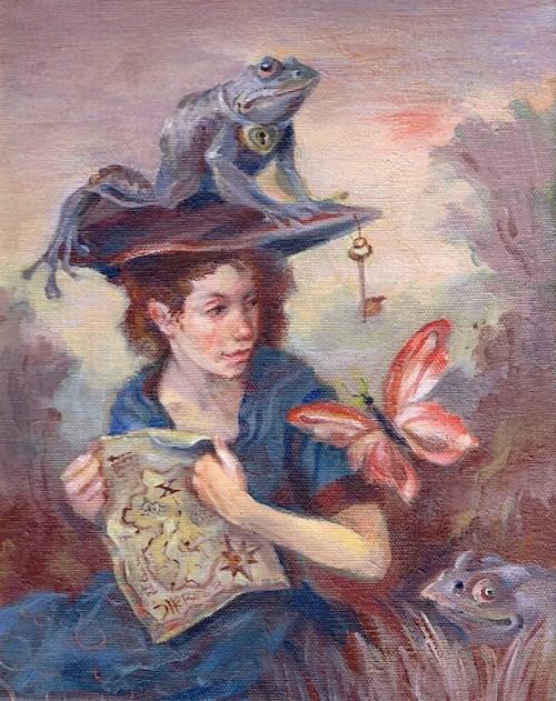 """Treasure Map"" original fine art by Theresa Taylor Bayer"