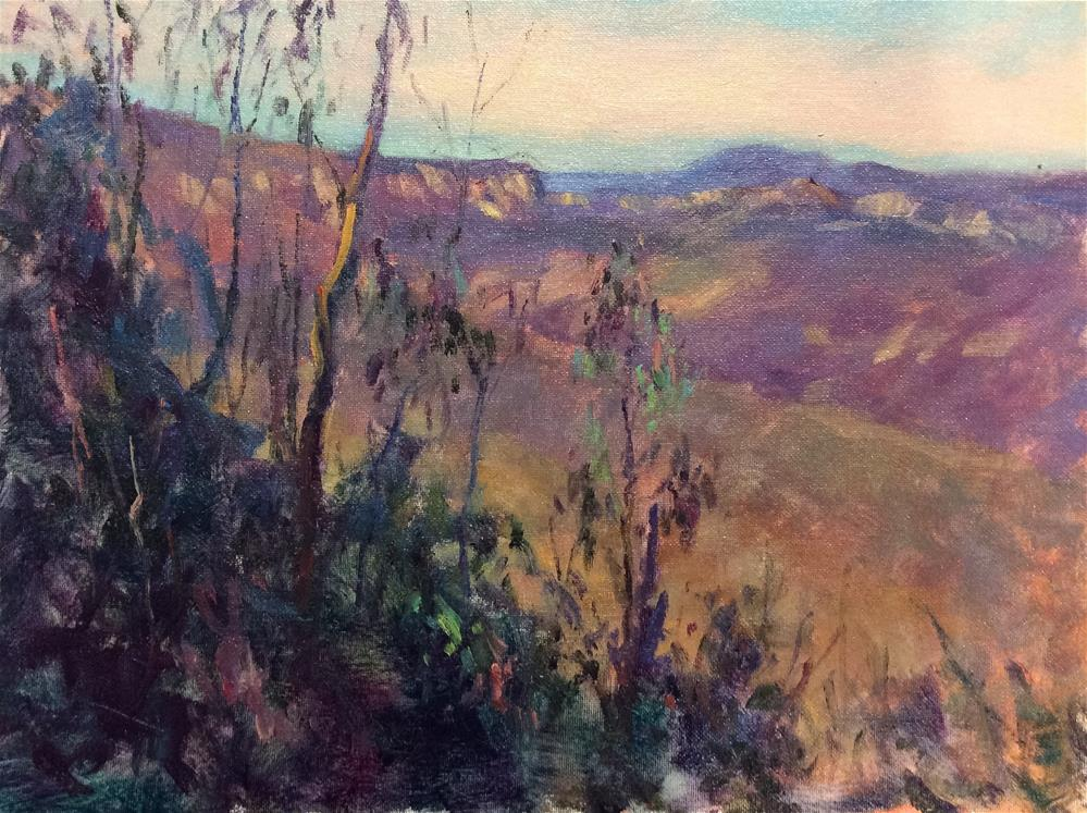 """In The Blue Mountains"" original fine art by John Shave"