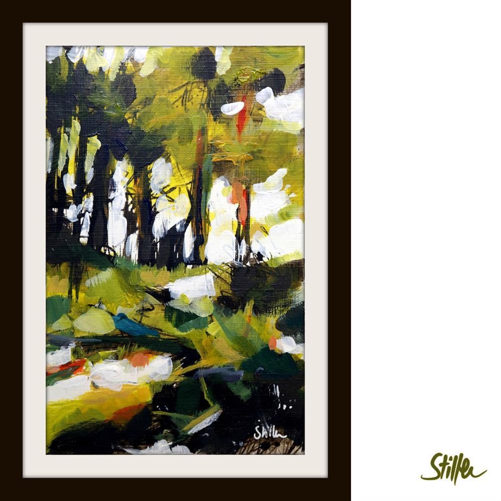 """""""3364 Woodland Miniature IX"""" original fine art by Dietmar Stiller"""