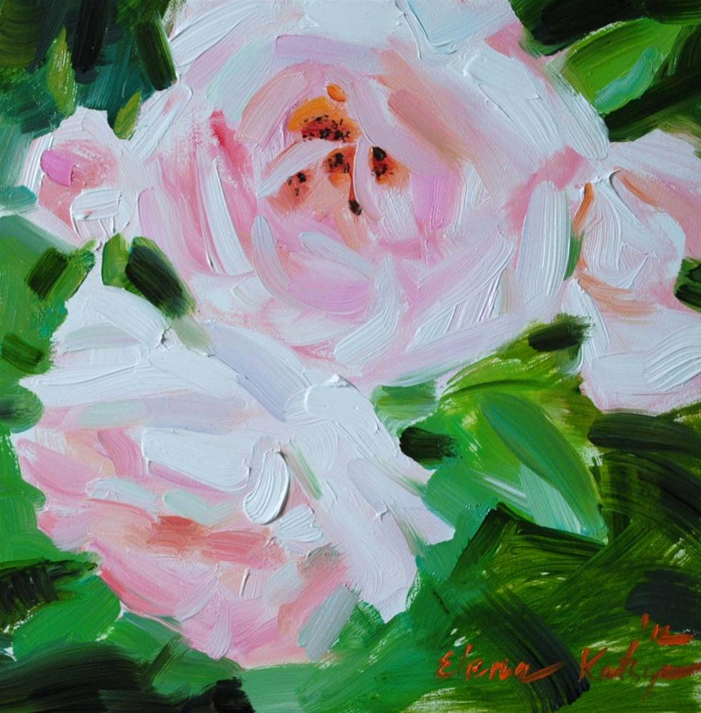 """Morning Roses"" original fine art by Elena Katsyura"