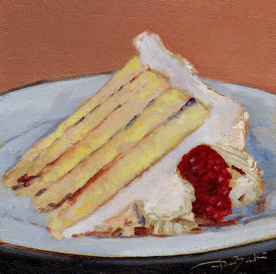 """a piece of cake"" original fine art by Mark DeBak"