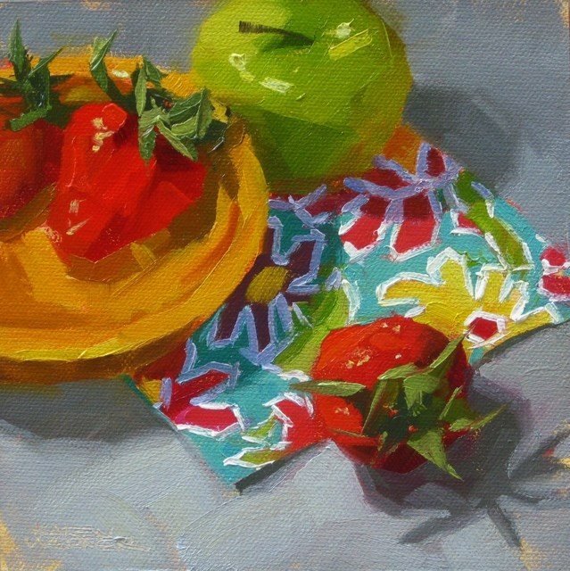 """Party Fruit"" original fine art by Karen Werner"