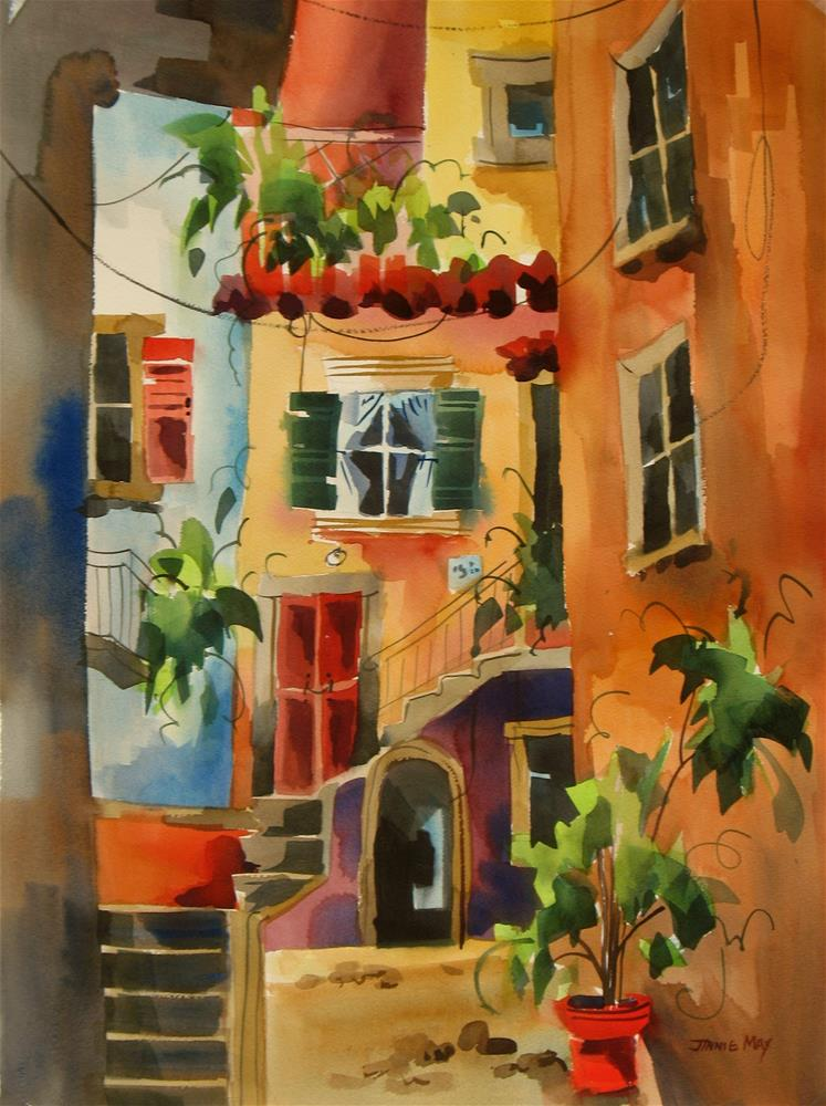 """""""Enchanting Alley in Italy"""" original fine art by Jinnie May"""