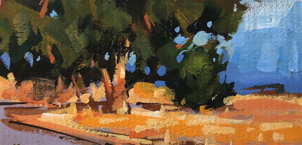 """Desert Tree"" original fine art by Cathleen Rehfeld"
