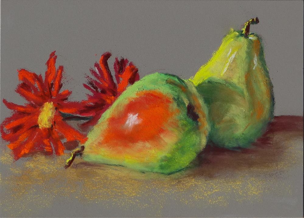 """Pair of Pears"" original fine art by Denise Beard"