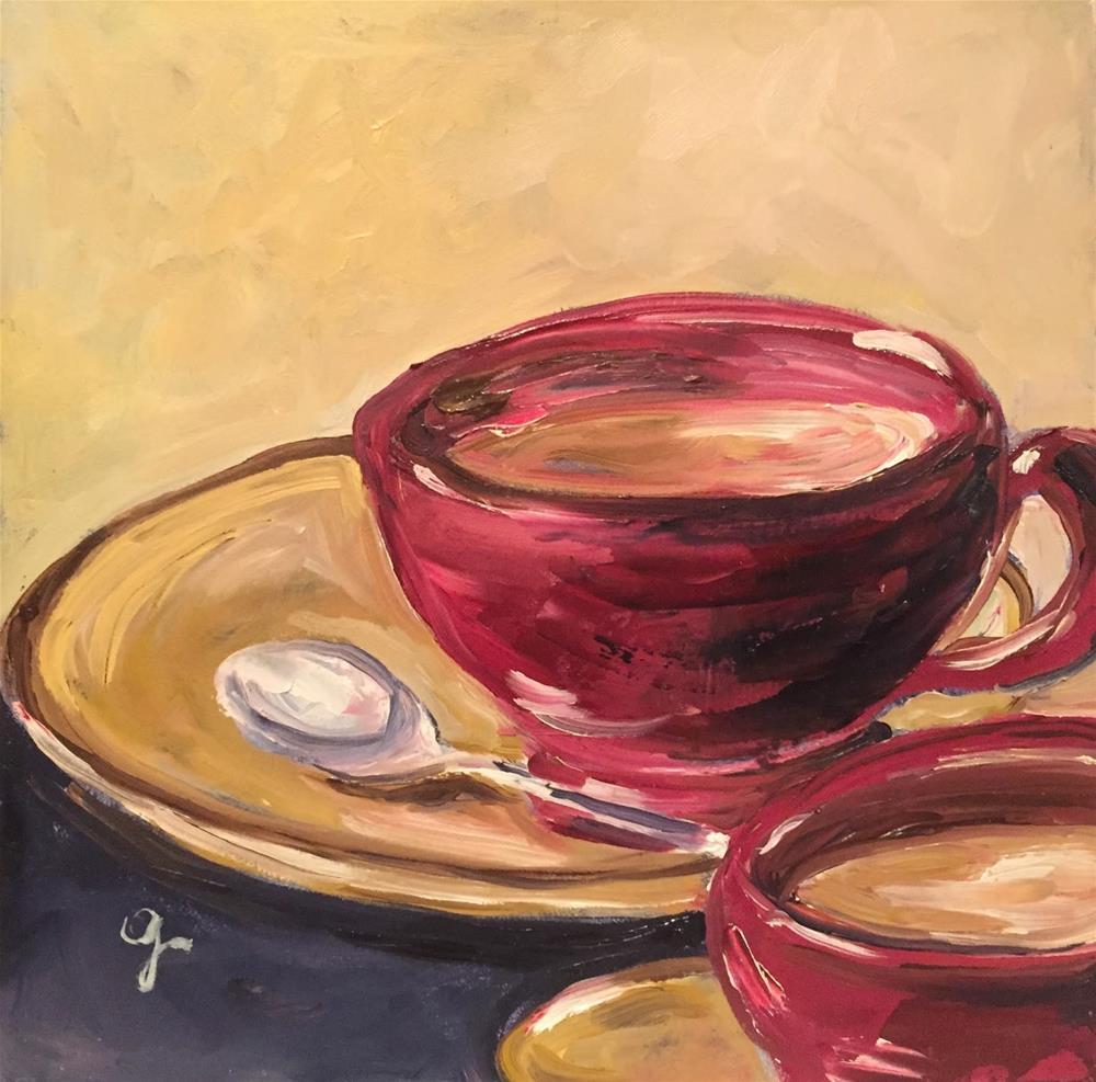 """""""Morning Coffee"""" original fine art by Gayle Lambeth"""