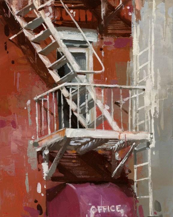 """""""Office"""" original fine art by Victor Bauer"""