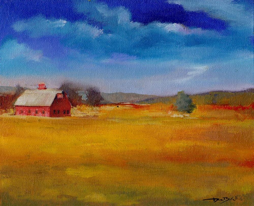 """old barn"" original fine art by Mark DeBak"