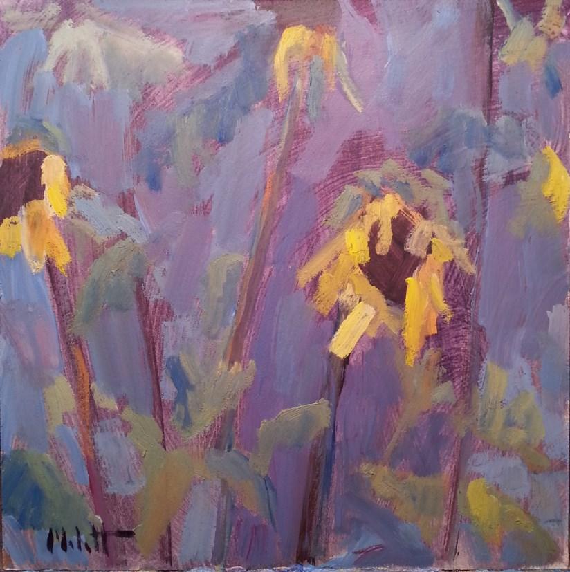 """""""Sunflower Painting Garden Impressionism"""" original fine art by Heidi Malott"""