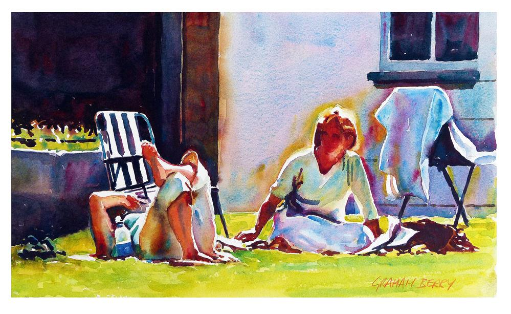 """""""Relaxing in the sun"""" original fine art by Graham Berry"""
