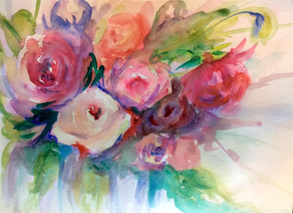 """Roses"" original fine art by Molly Rohrscheib Hathaway"