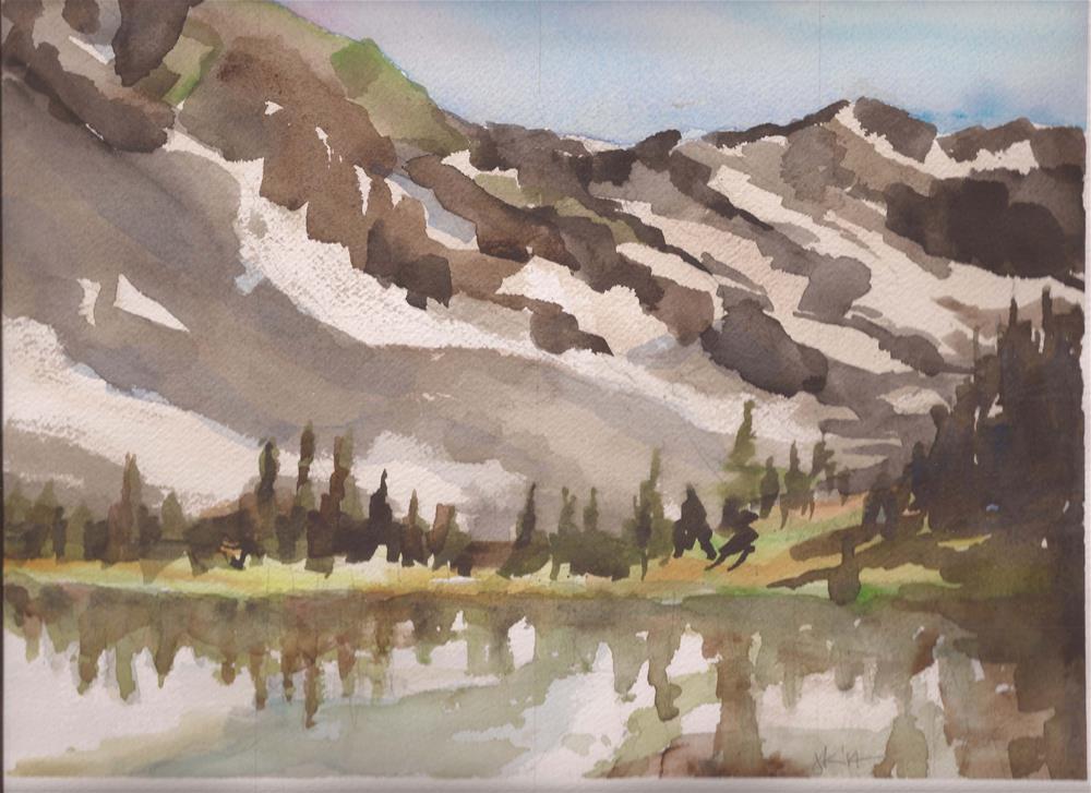 """""""Goodwin Lake, Sangre de Cristo Mountains, Colorado"""" original fine art by Jean Krueger"""
