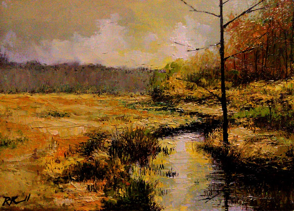 """""""The Old Tree by the Stream"""" original fine art by Bob Kimball"""
