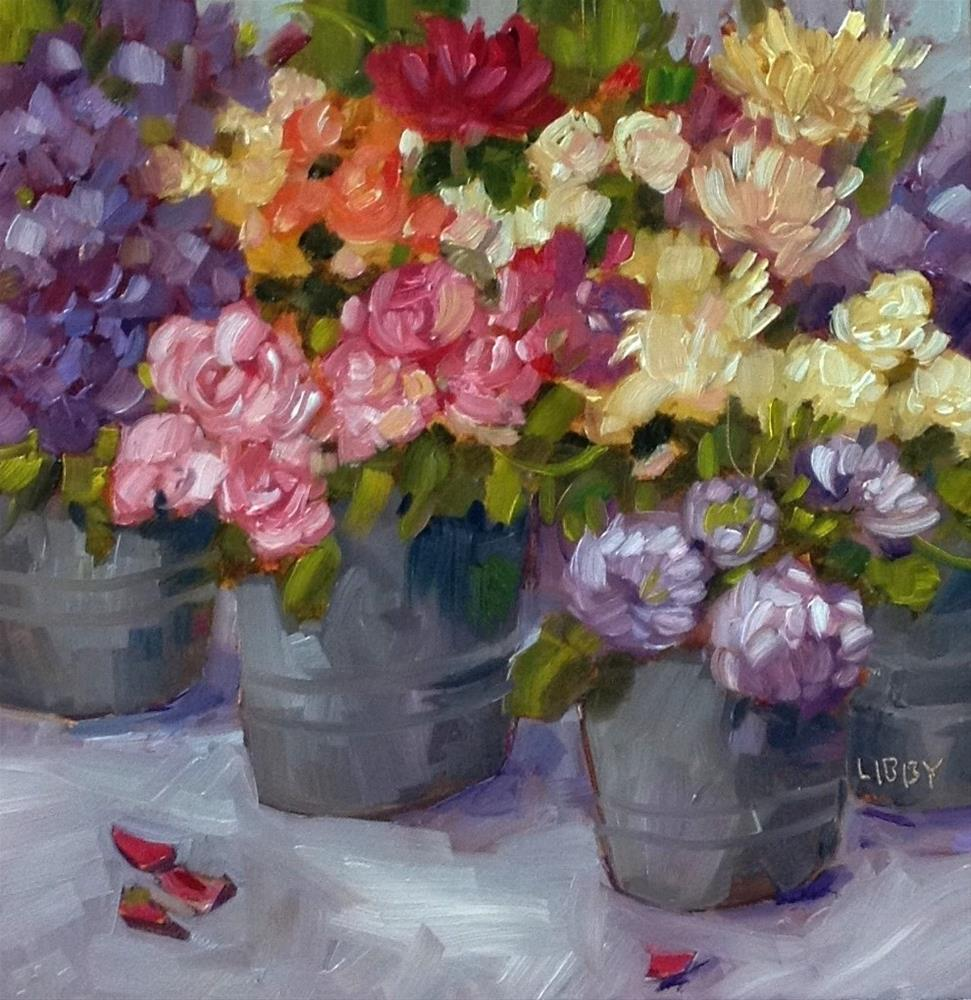 """Summer Market Flowers"" original fine art by Libby Anderson"
