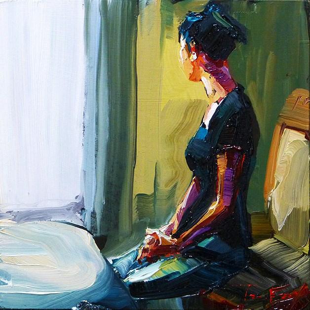 """sedentary"" original fine art by Jurij Frey"