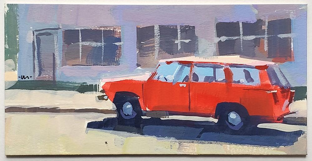 """""""Hot Car"""" original fine art by Carol Marine"""