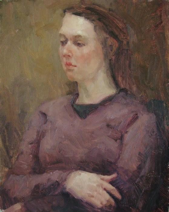 """""""Meg - NFS"""" original fine art by Kathryn Townsend"""