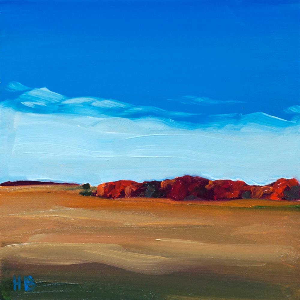 """Autumn Field"" original fine art by Heather Bullach"