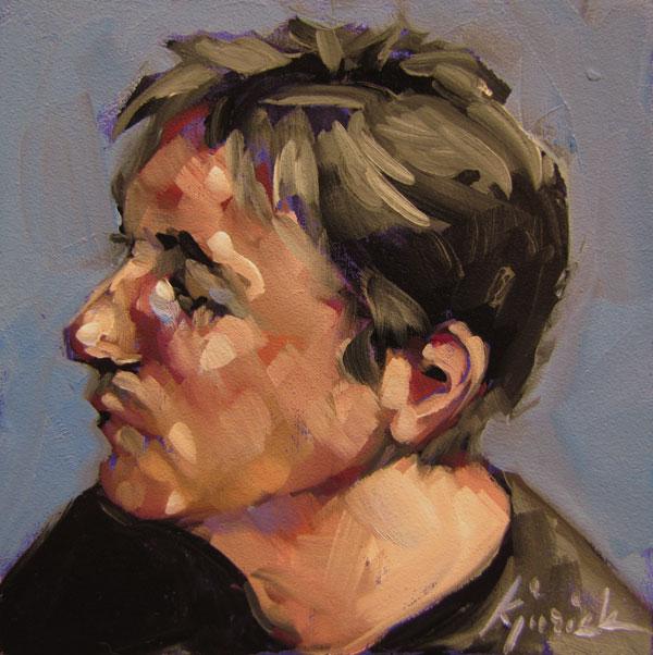 """100 Faces, No. 69"" original fine art by Karin Jurick"