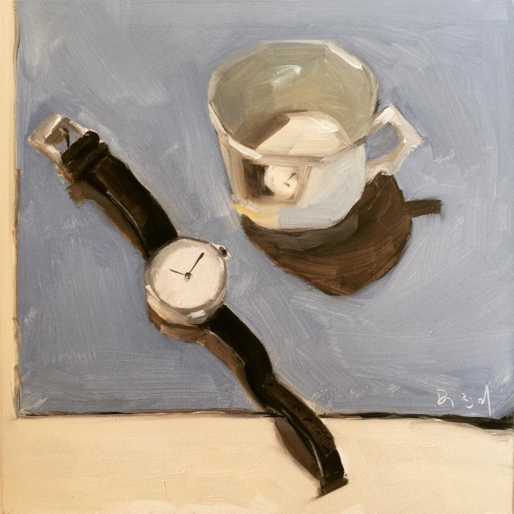 """665 On Time"" original fine art by Jenny Doh"