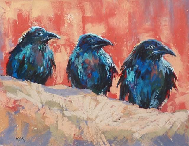 """The Rewards of Turning Around"" original fine art by Karen Margulis"
