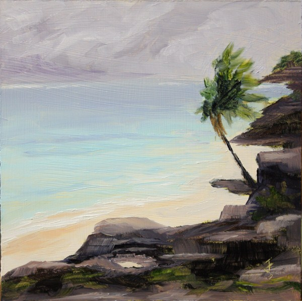 """Mayan Coast"" original fine art by Jane Frederick"