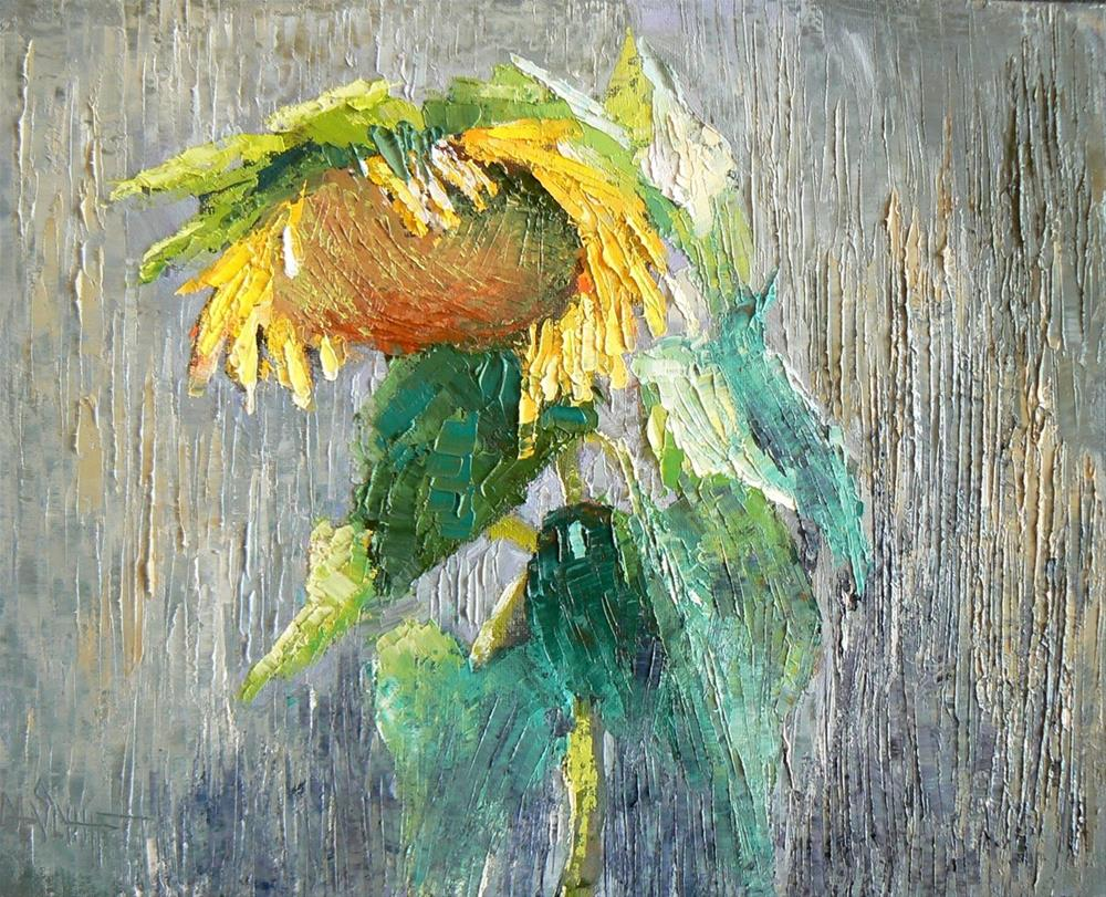 """Lonely Sunflower"" original fine art by Carol Schiff"