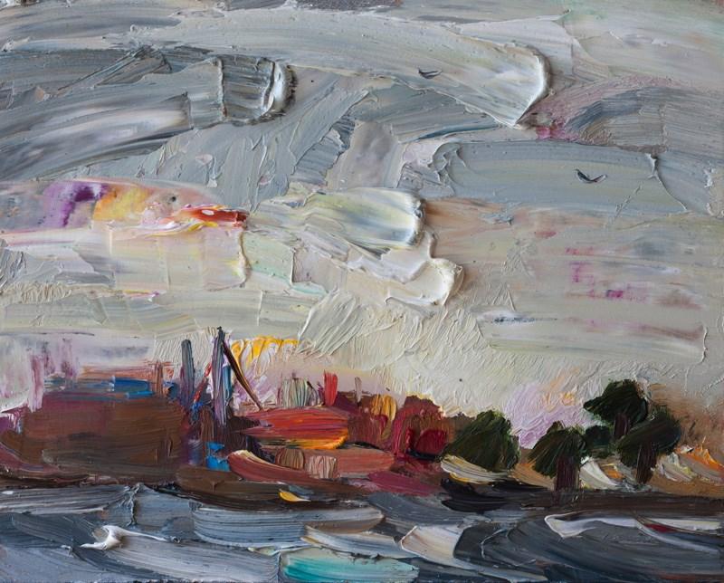 """Storm Wind & Rough Sea at Dawn"" original fine art by Anna Fine Art"