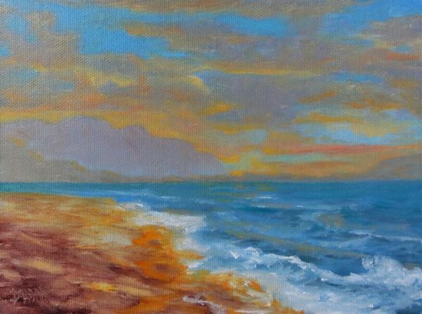 """""""Kailua Beach Sunset"""" original fine art by Dalan Wells"""