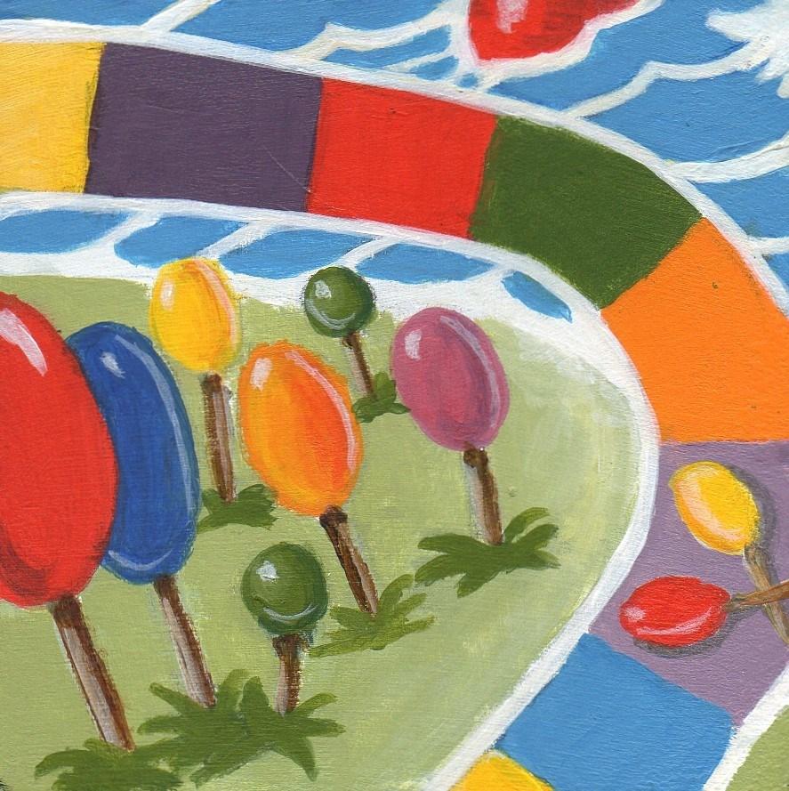 """Lollipop Woods"" original fine art by Debbie Shirley"