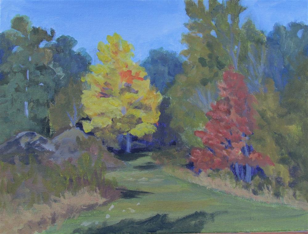 """""""Down Autumns Path"""" original fine art by Jan Oxendale"""