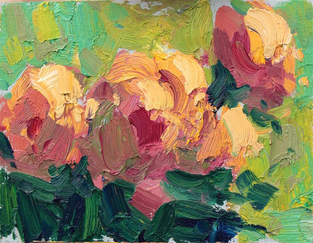 """Peony Study II"" original fine art by Michael Clark"